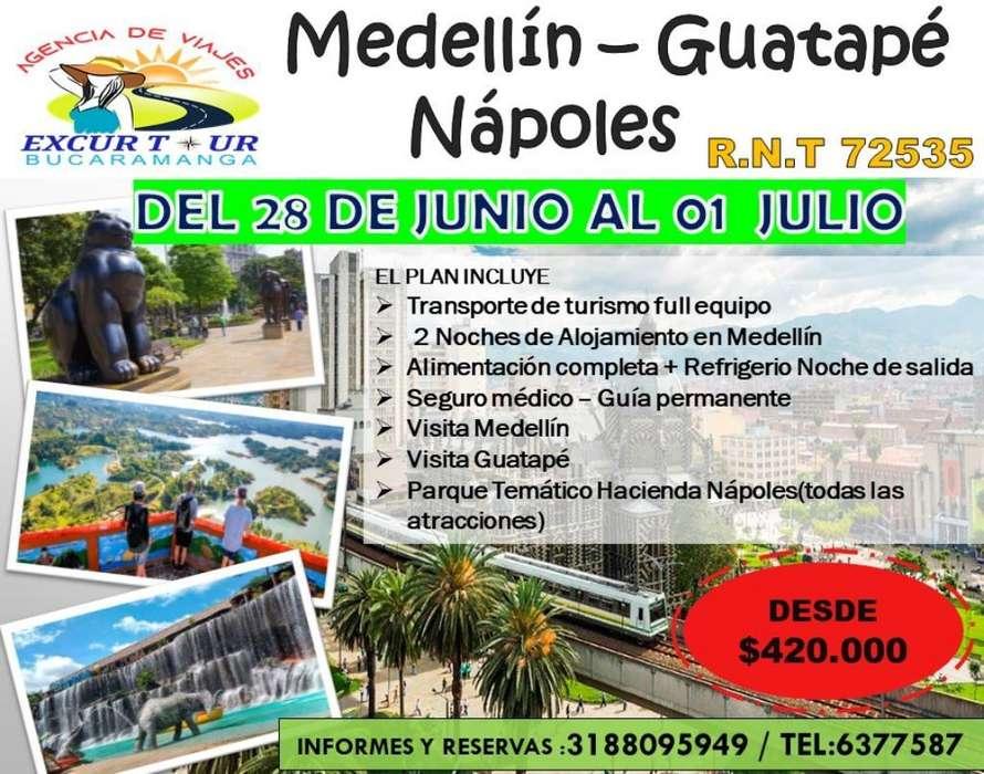 Tour Guatapé Medellín Y Nápoles