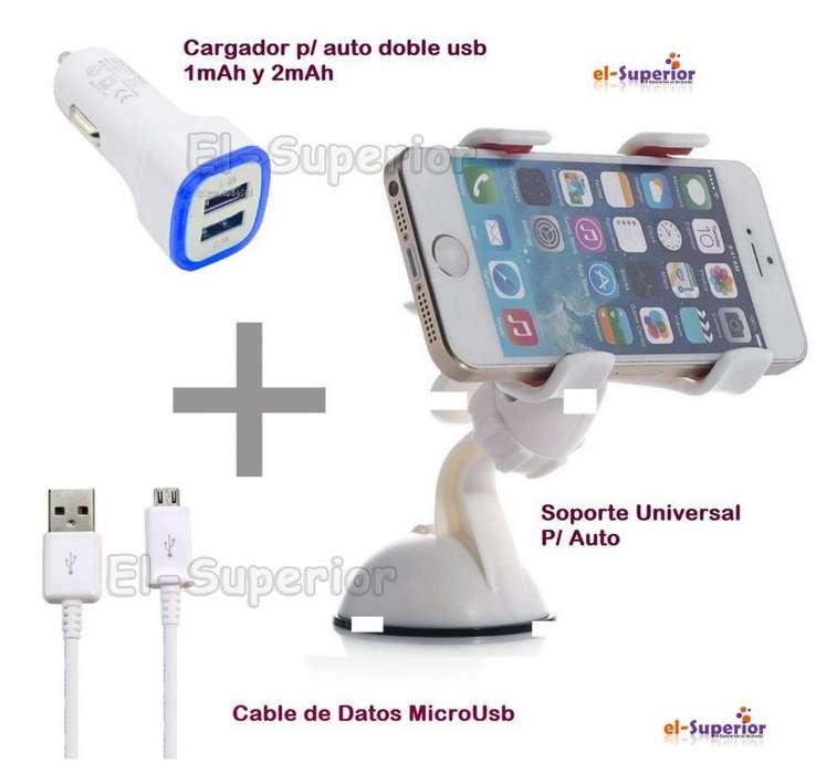 Combo Soporte Cargador Y Cable P Motorola Moto G5s G5s Plus