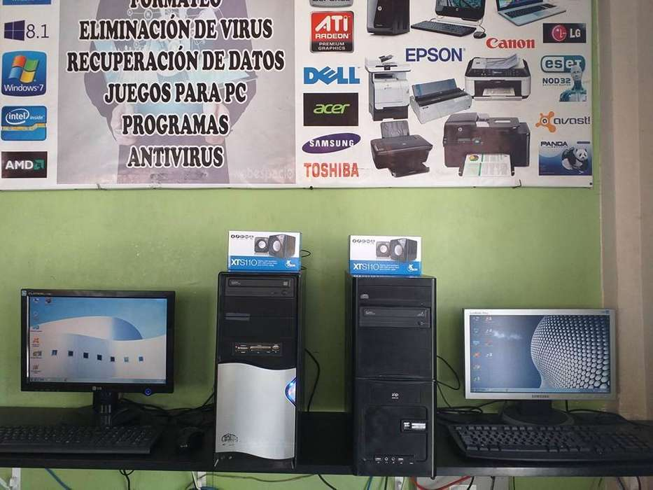 Lindas Computadoras Dual Core, con Windows 7, lista para trabajar, con 1 año de garantía
