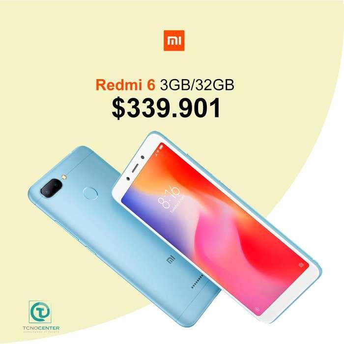 Xiaomi redmi 6 3GB/32Gb Huella, doble camara, nuevos, sellados, originales, TIENDA FISICA.