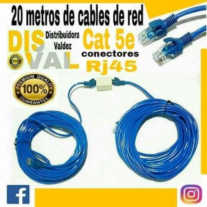 Cable de Red 20 Metros/rj45/categoría 5e