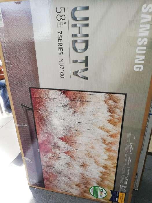 Led 58 Samsung Smart Tv 4k Ref Nu7100