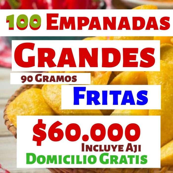 100 Empanadas Grandes Fritas Aji