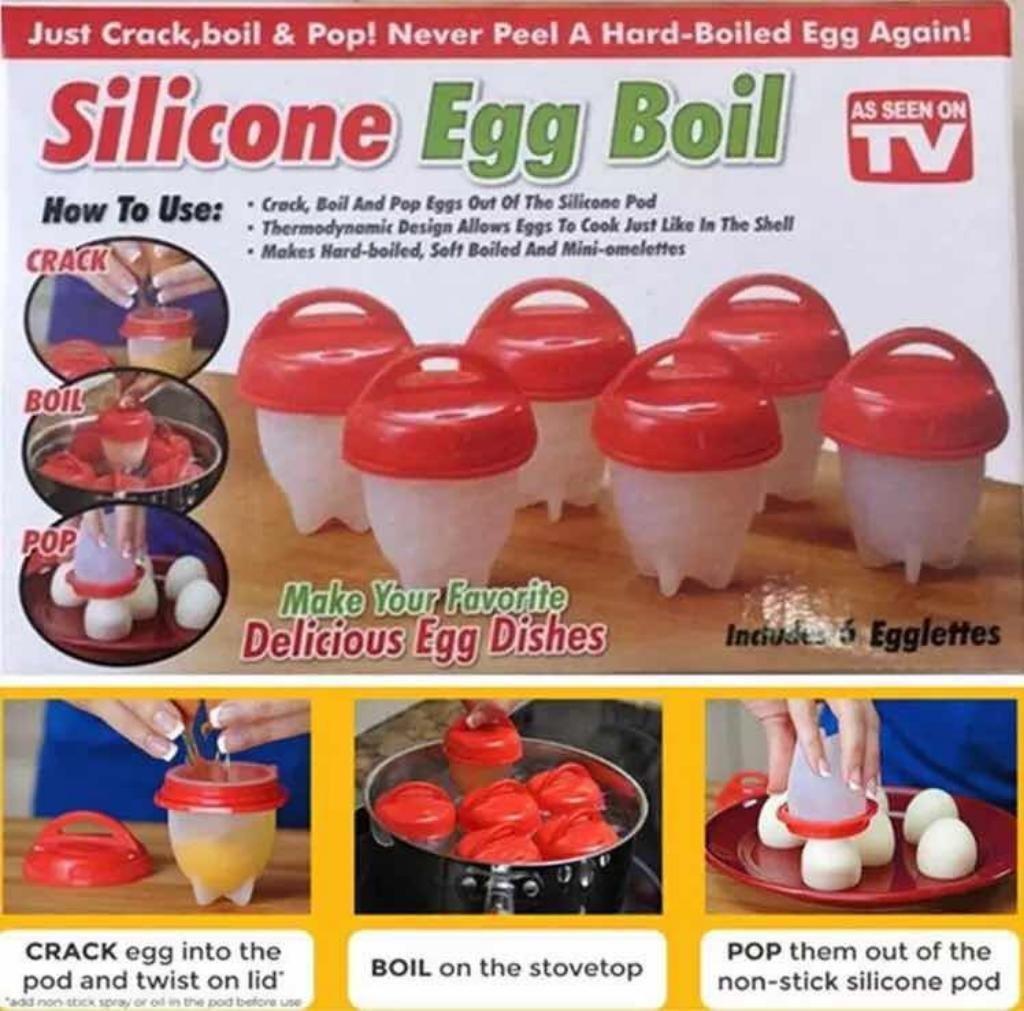 Moldes de Silicona para Cocinar Huevos