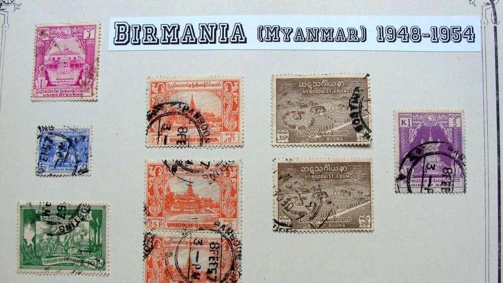 Sellos postales de Birmania (Myanmar) 1948 – 1954