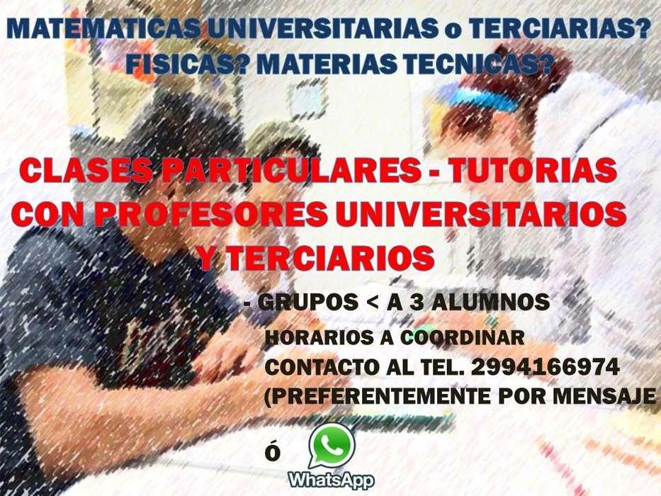 Clases Particulares Matematica Fisica Tecnicas