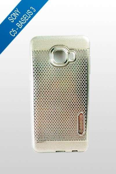 Sony Xperia C5 - Estuche Baseus 3 Plata y Plata oscura