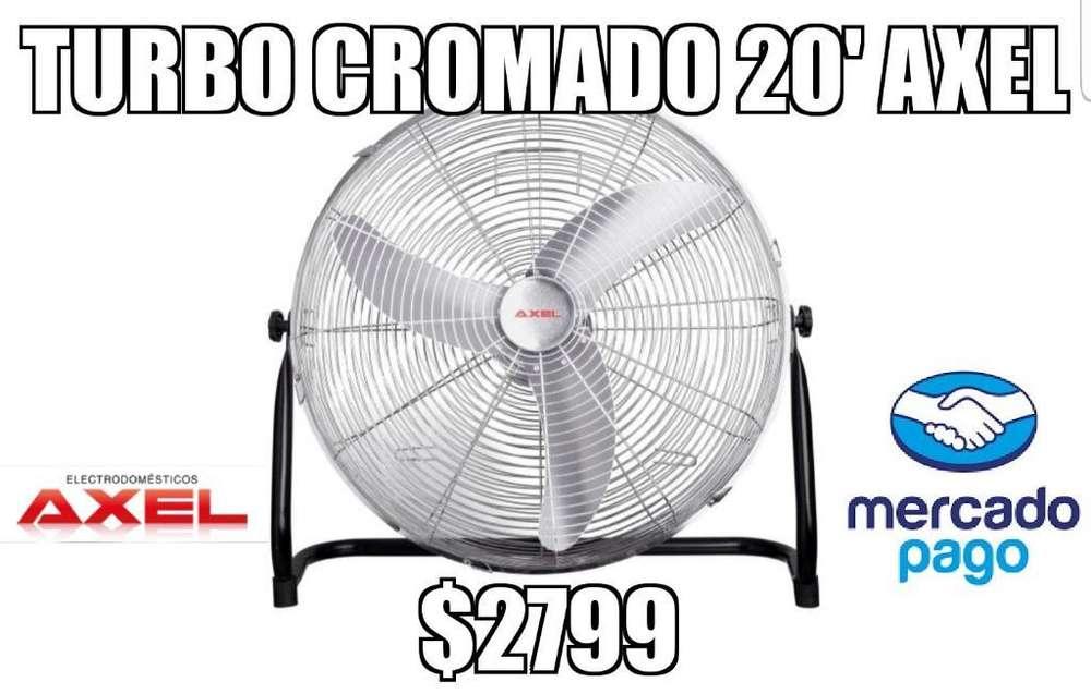 Turbo Ventilador Cromado