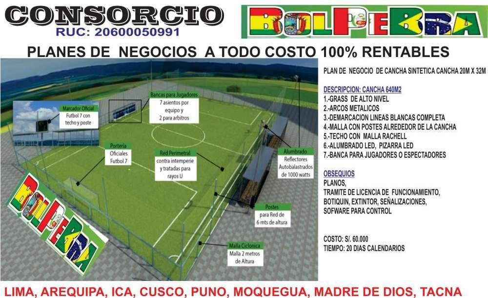 CANCHA GRASS SINTETICA A TODO COSTO