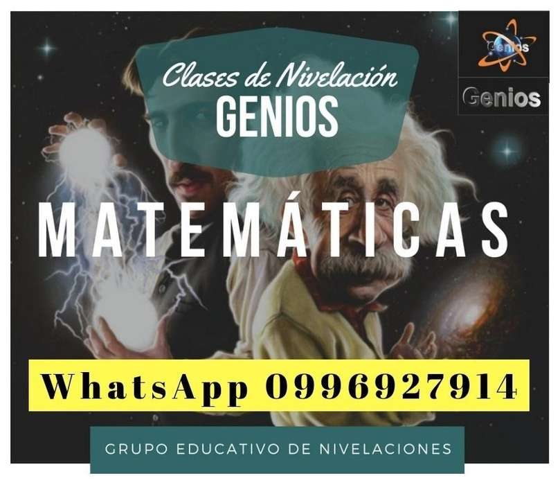 MATEMÁTICAS GRUPO EDUCATIVO NIVELACIONES CLASES Y TUTORIAS