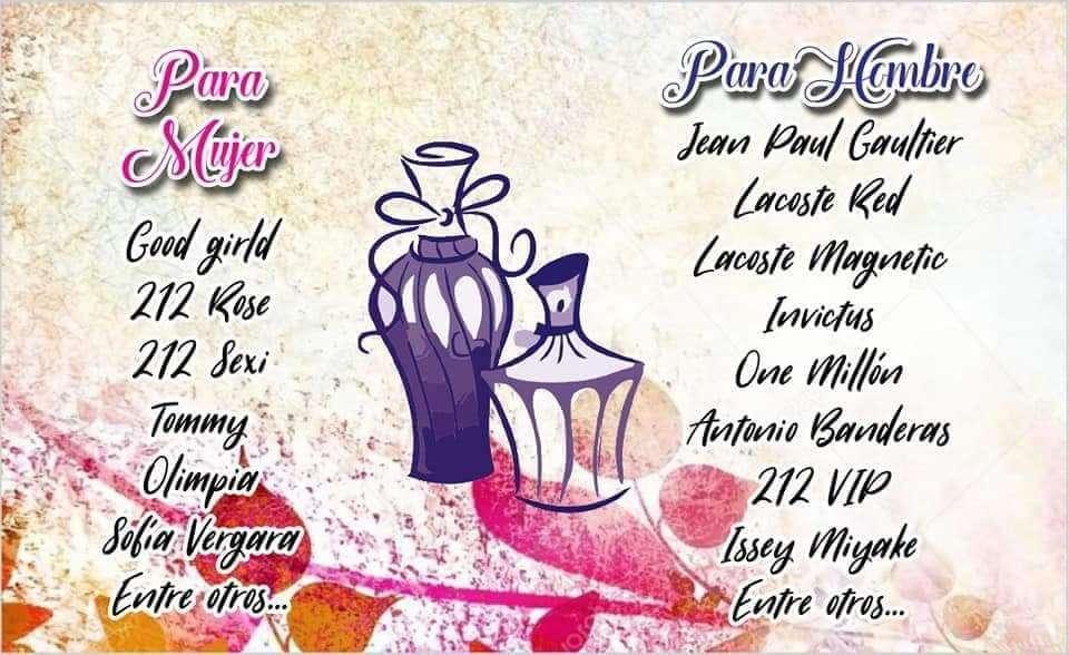 Venta de perfumes todas las marcas reconocidas