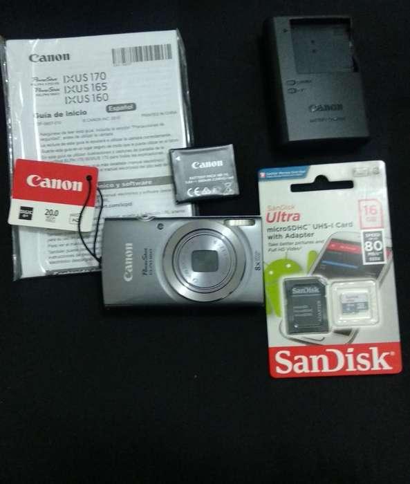 Camara Canon Elph 160 Silver Plata