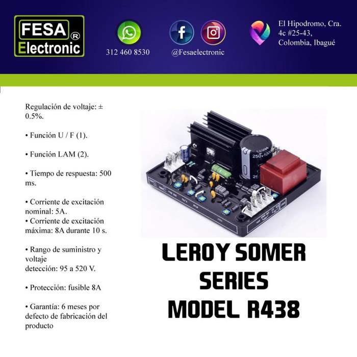 AVR Leroy Somer Model R438