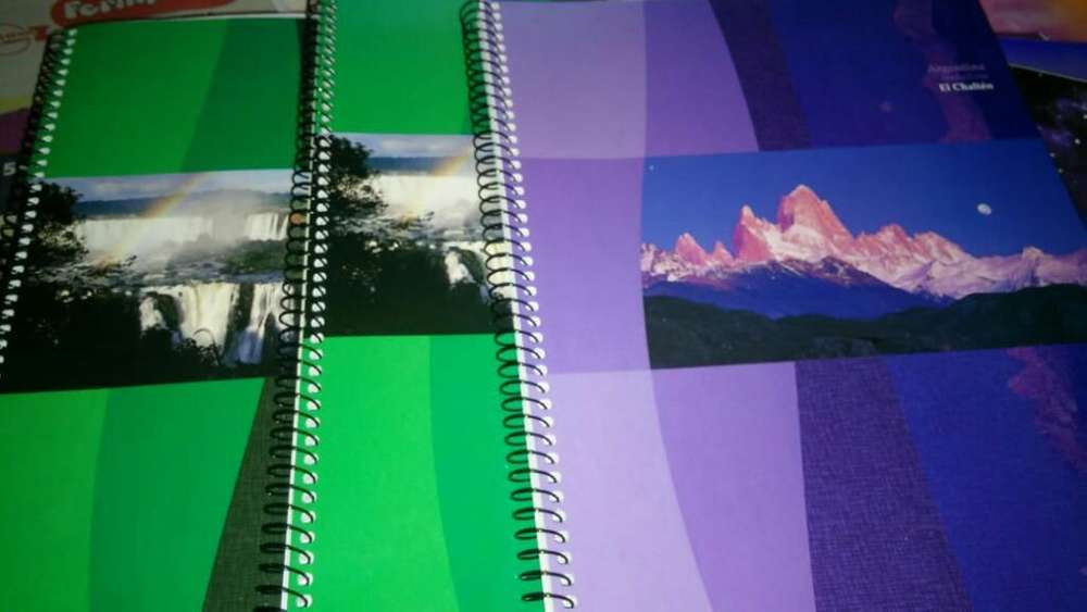 Cuadernos Espirales Rayados X80 Cuadrx84