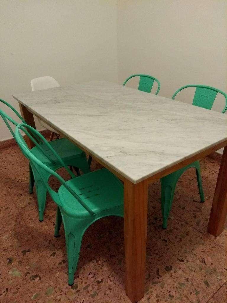 mesa de marmol carrara madera paraiso comedor moderna. varias ...