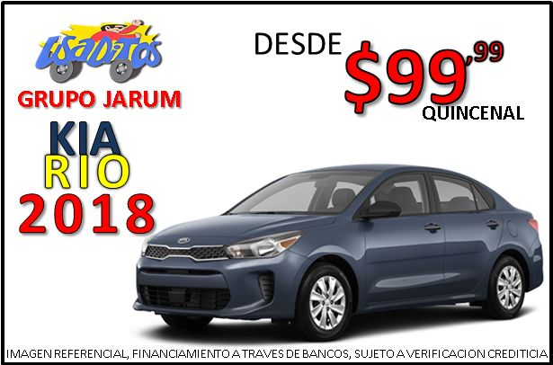 KIA RIO 2018 #CJ3603 **GRUPO JARUM** FINANCIAMIENTO DISPONIBLE