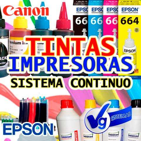 TINTAS PARA EPSON - CANON - HP - BROTHER Y SUBLIMACION
