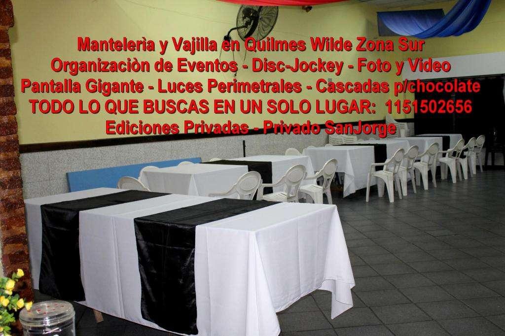 Mantelerìa y Vajilla en Quilmes Wilde Org de Eventos DiscJockey Foto y Video Pantalla Gigante 1151502656