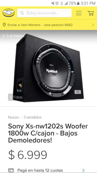 Vendo Subwoofer Sony