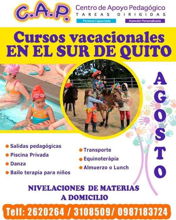 Cursos vacacionales en Quito sur