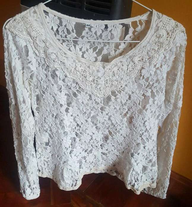 Remera <strong>mujer</strong> Encaje Y Broderie. Talle 1