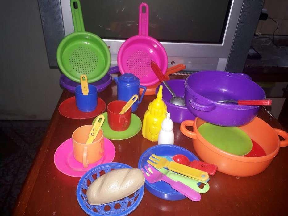 Juego de Cocina Ollas,platos,tazas,