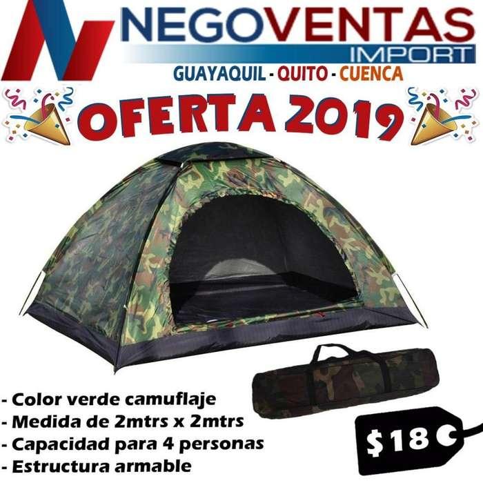 CARPA <strong>camping</strong> 2X2 MTS ESTRUCTURA ARMABLE COBERTOR IMPERMIABLE CAMUFLADA
