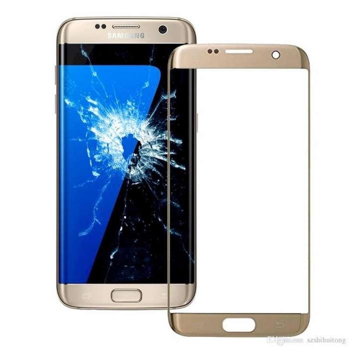 Visor Samsung S7 Edge Instalado en laboratorio Procedimiento en vIvo