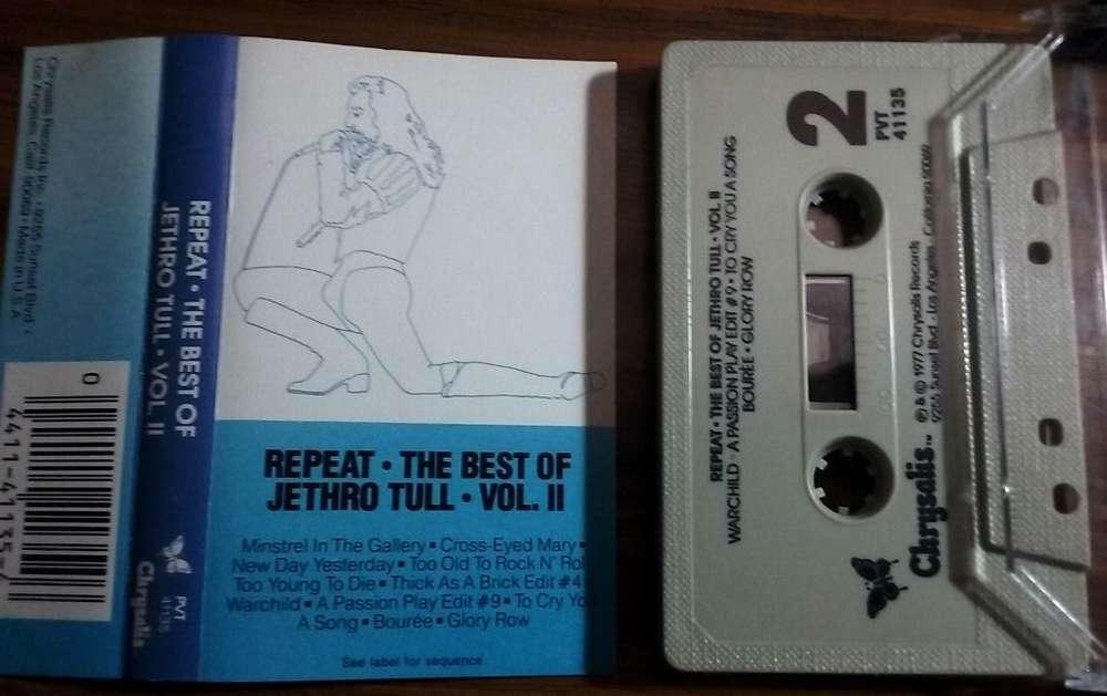 JETHRO TULL REPEAT THE BEST OF VOL. 2 1977 Cassette made in USA Perfecto estado. Tenemos otros. pregunten.