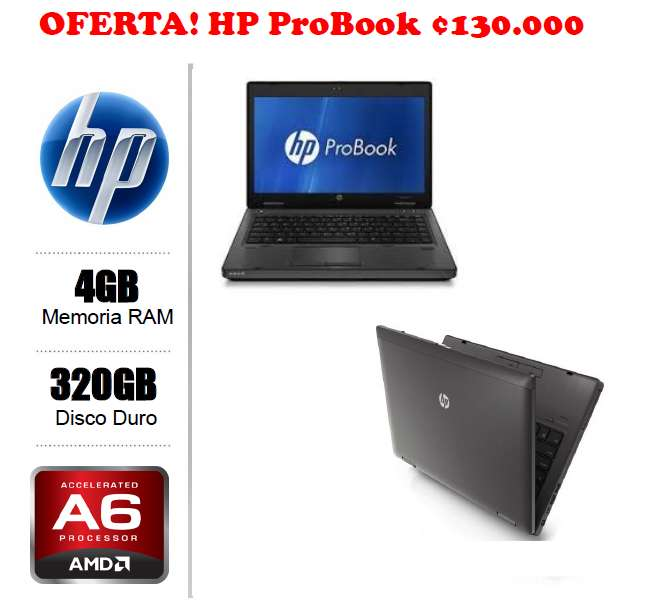 Hp Probook Amd A6 2.7ghz Ram 4gb 320 Hdd