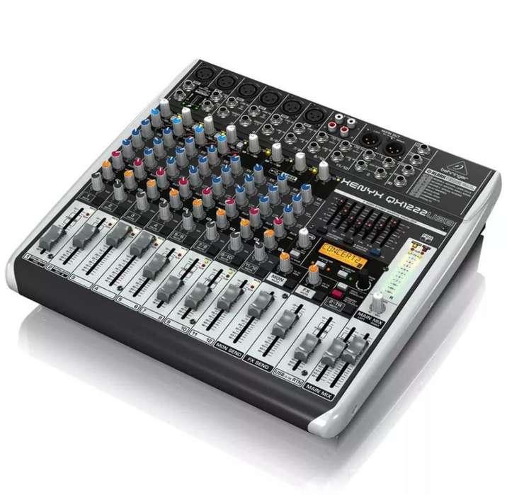Consola E Interfaz de Audio Qx1222usb