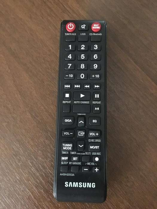 Control Remoto Original Minicomponente Samsung Fs8000