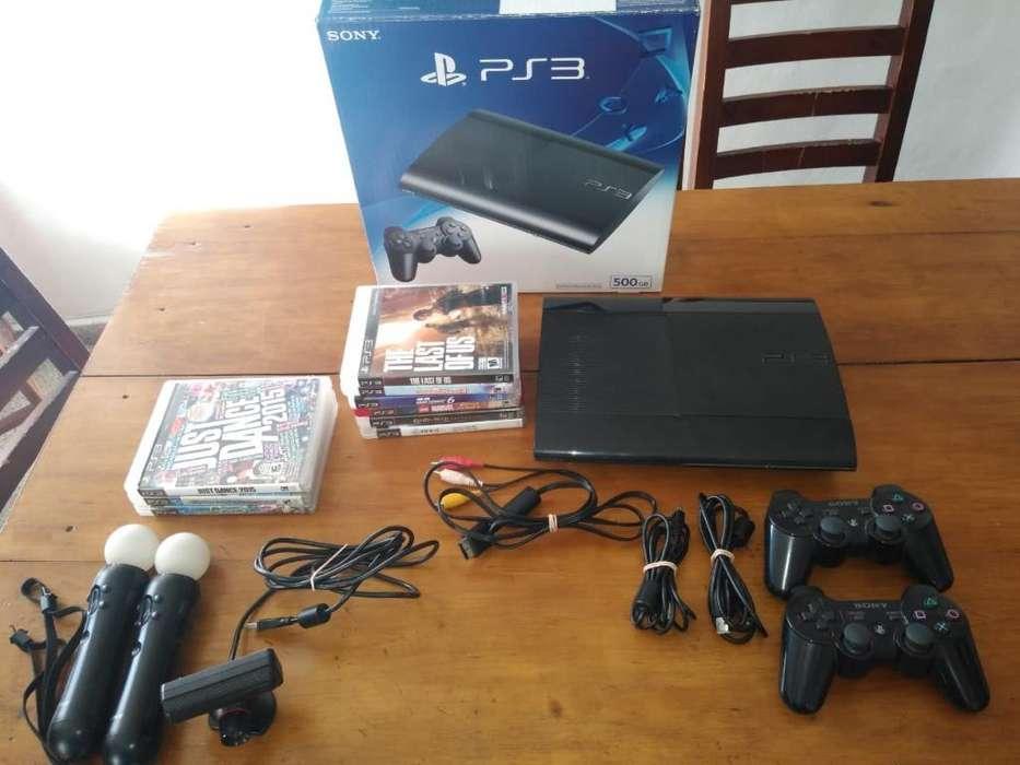 Ps3 Superslim Sony 500gb Negro Carbon