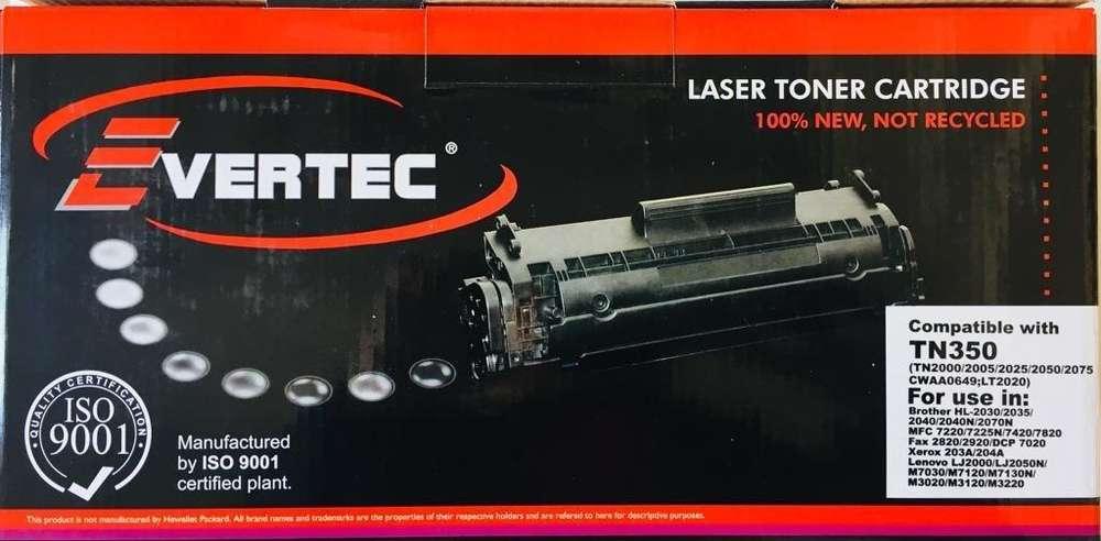 Toner EVERTEC Brother TN350 TN2050 TN2025. Tn 350 Hl 2040 2070 7420 2030. La Plata