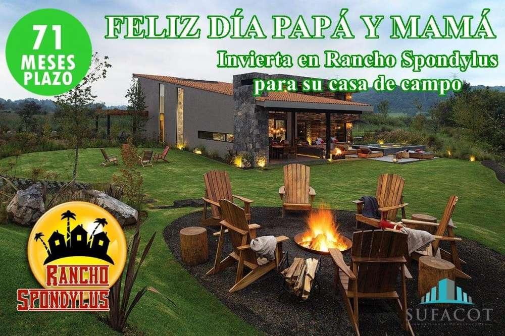 TERRENOS DESDE 1000 M2 PARA SU CASA DE CAMPO 100USD DE ENTRADA Y FIRME CONTRATO SD3