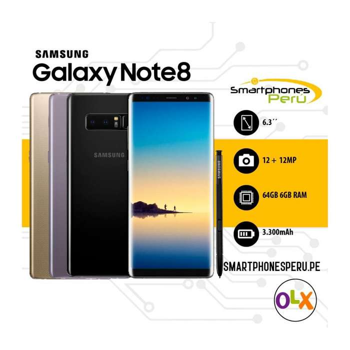 Samsung Galaxy Note 8 64GB • Libre de Fabrica • Smartphonesperu.pe