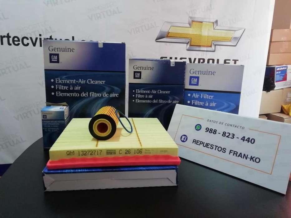 Repuestos para el modelo Chevrolet Cruze, Sonic, Captiva y Tracker