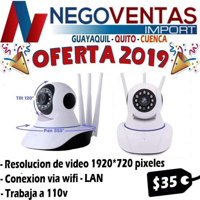 12f6cac8da7 CAMARA IP ROBOTICA 360 WIFI 3 ANTENAS A 110 VOLTEOS
