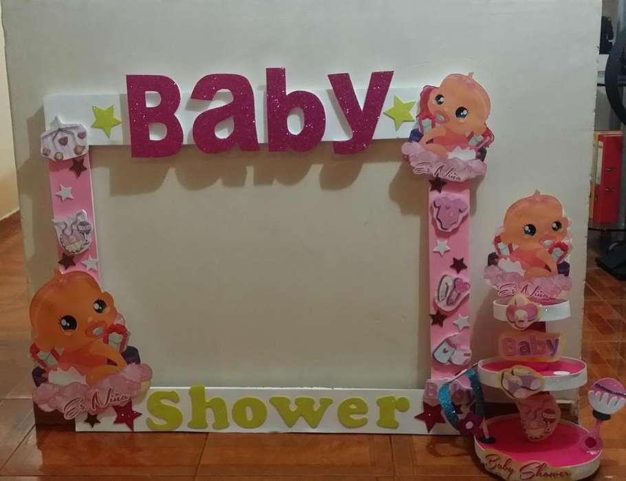 Baby shower cuadro selfie mas caramelera