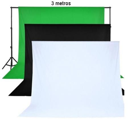 Estudio Fotográfico Soporte Telas Fondos de 3 por 3m Canon Nikon