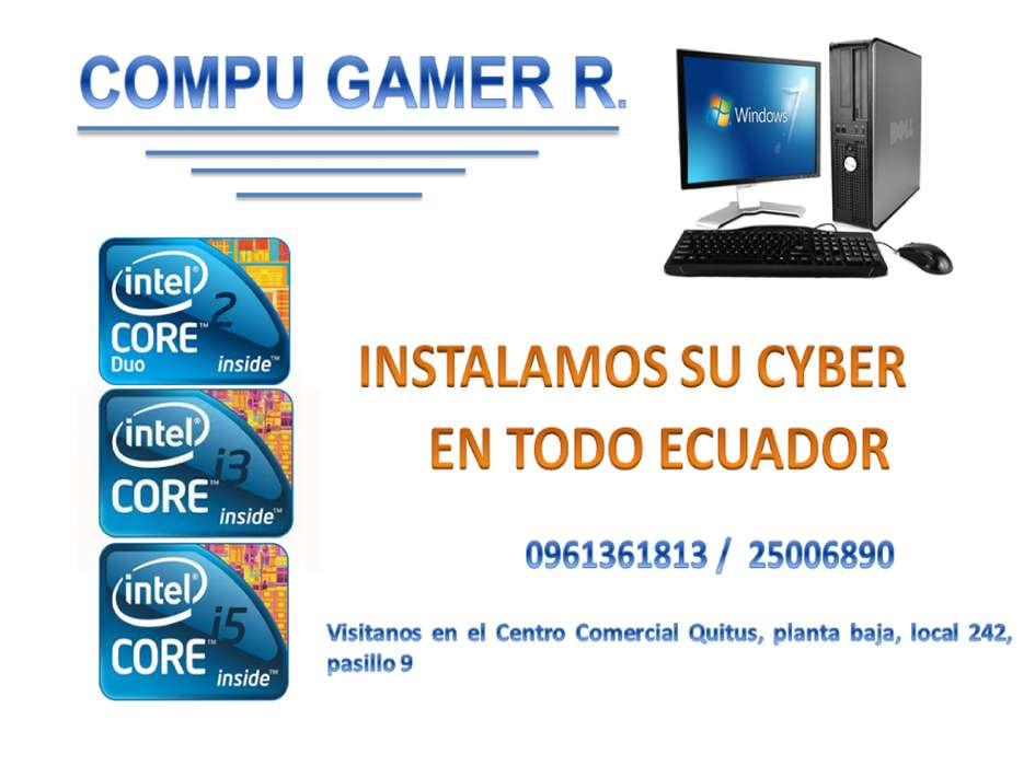 Promocion Kit 5 Computadoras Core I5, Instalacion De Cyber G