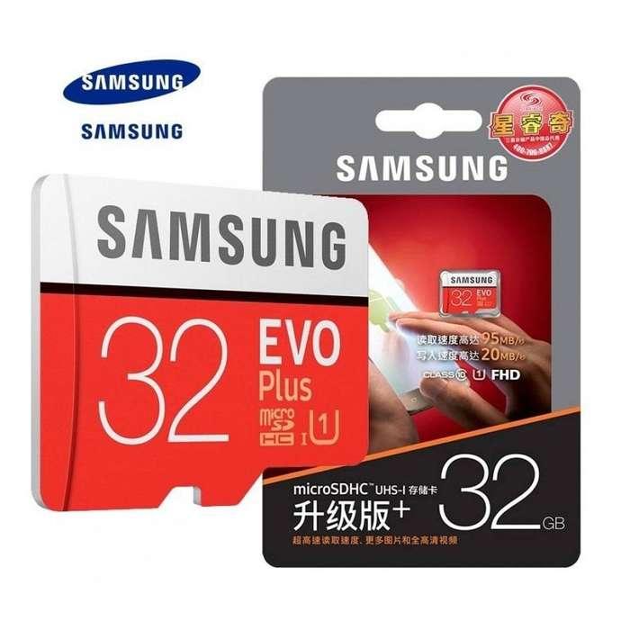 Memoria Samsung Micro Sd 32gb 100 Original Clase10 Evo Plus