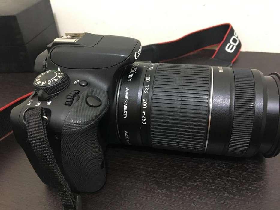 Cámara Dslr Canon Eos Kiss X7 Con Ef-s55-250mm, pantalla táctil ,SD DE 32GB -lente canon 50mm en 320000