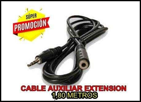 CABLE AUXILIAR AUDIO EXTENSION1,80 METROS