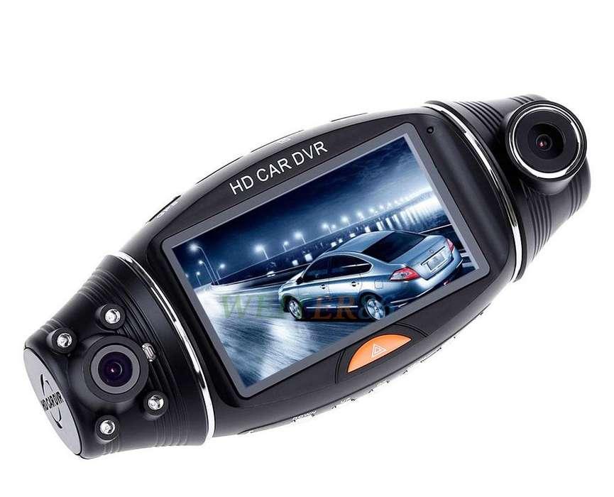 R310 Cámara Carro Dual LCD pantalla: 2.7'' <strong>gps</strong> V.nocturna HD Base Giratoria