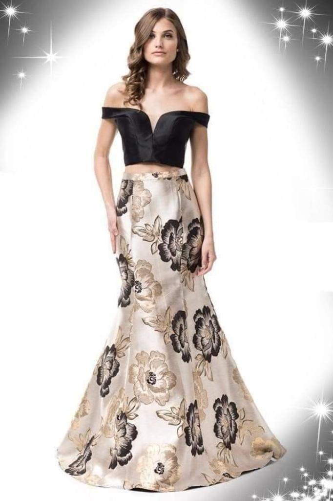 2cd2260fb Hermoso Vestido Gala 2 Piezas - Arequipa