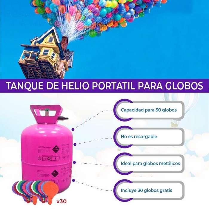 Tanques de helio cilindro de helio para 50 globos incluye 30 globos fiestas infantiles quito o guayaquil