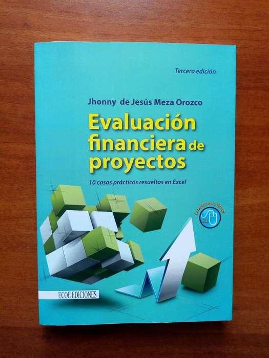 Libro Evaluación Financiera de Proyectos, Editorial Ecoediciones, Sin Marcas Excelente Estado