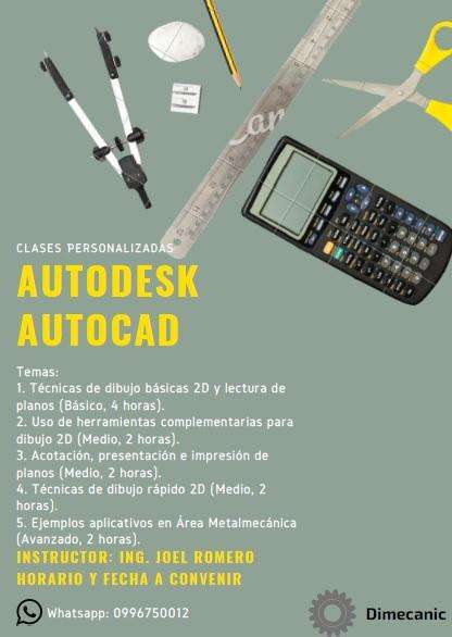 Clases <strong>autocad</strong> profesionales y estudiantes