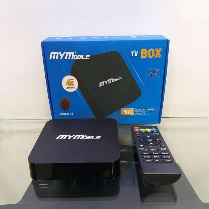 Convertidor Tv A Smart Tv MYMobile. Tv Box 4k Ultra Hd Android 7.1